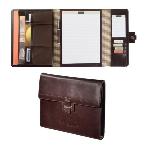Mahogany Cutter and Buck American Classic Tri-Fold Padfolio