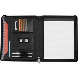 Cutter and Buck Zippered Padfolio Branded with Your Logo