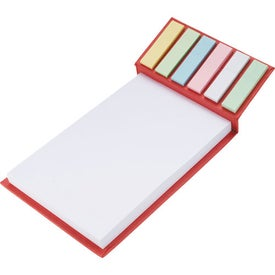 Deskpad with Sticky Notes Branded with Your Logo