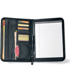 Printed Deluxe Executive Vintage Leather Padfolio