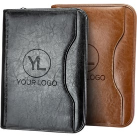 Deluxe Executive Vintage Leather Padfolio Printed with Your Logo
