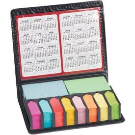 Monogrammed Deluxe Sticky Note Organizer