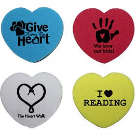 Heart Shaped Die Cut Eraser