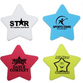 Star Shaped Die Cut Erasers