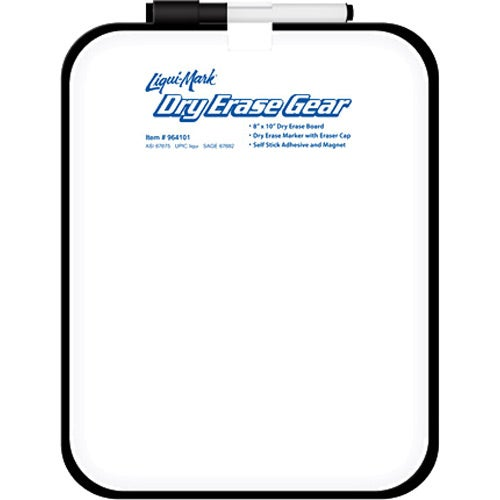 White Dry Erase Board with Black Frame