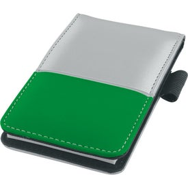 Dual Tone Silver Super Jotter Imprinted with Your Logo