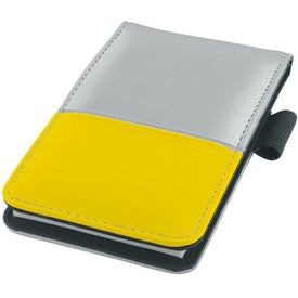 Promotional Dual Tone Silver Super Jotter