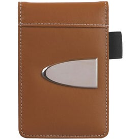 Eclipse Bonded Leather Flip Open Jotter Imprinted with Your Logo