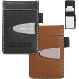 Logo Eclipse Bonded Leather Flip Open Jotter