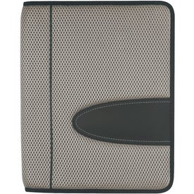 Eclipse Mesh Zippered Portfolio with Calculator Printed with Your Logo