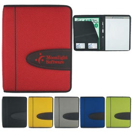 Eclipse Mesh Zippered Portfolio with Calculator