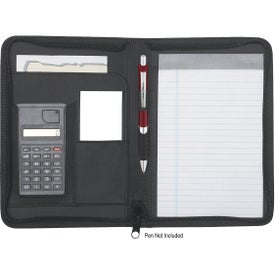 Imprinted Eclipse Zippered Portfolio with Calculator