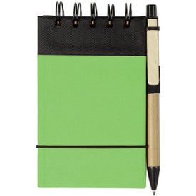 Imprinted Eco Friendly Spiral Jotter and Pen