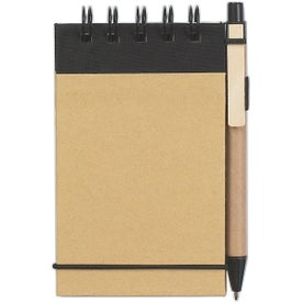 Branded Eco Friendly Spiral Jotter and Pen