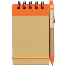 Printed Eco Friendly Spiral Jotter and Pen