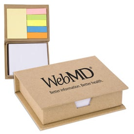 Eco Recycled Sticky Note Memo Case (330 Sheets)