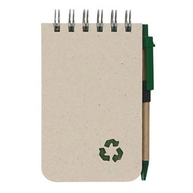 Eco Rich Spiral Jotter and Pen with Your Logo