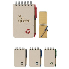 Eco Rich Spiral Jotter and Pen