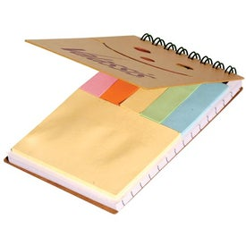 Eco Smiley Sticky Jotter