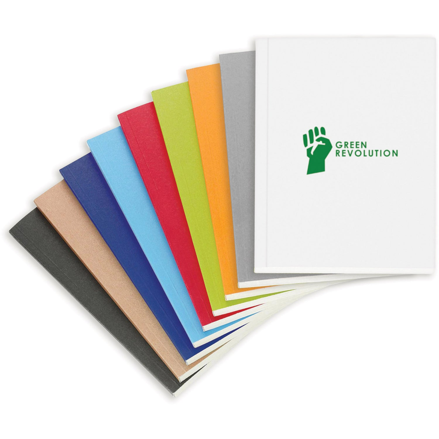 Promotional 6 X 9 Eco Perfect Bound Notebook Colorplays With The Colorplay
