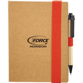 Branded Eco Perfect Bound Notebook and Pen