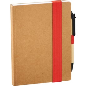 Eco Perfect Bound Notebook and Pen Imprinted with Your Logo