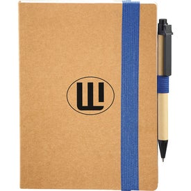 Eco Perfect Bound Notebook and Pen with Your Logo