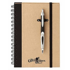 Monogrammed Eco Spiral Hard Cover Journal Combo