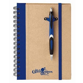 Eco Spiral Hard Cover Journal Combo Printed with Your Logo