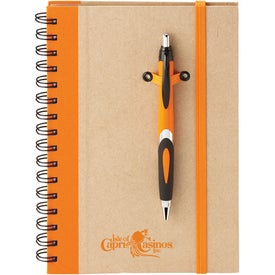 Printed Eco Spiral Hard Cover Journal Combo