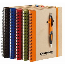 Eco Spiral Hard Cover Journal Combo