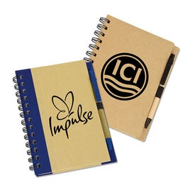 Eco Notebook with Eco Paper Barrel Pen (60 Sheets)