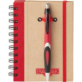 Eco Spiral Hard Cover Journal Combo Branded with Your Logo