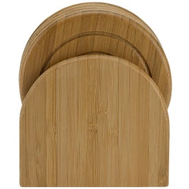 Imprinted Epure Bamboo Coaster Set