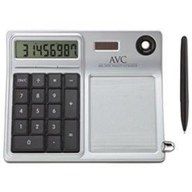Erasable Memo Pad and Desktop Solar Calculator with Your Slogan