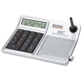 Erasable Memo Pad and Desktop Solar Calculator Printed with Your Logo