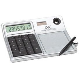 Erasable Memo Pad and Desktop Solar Calculator for Marketing