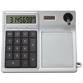 Erasable Memo Pad and Desktop Solar Calculator for Your Company