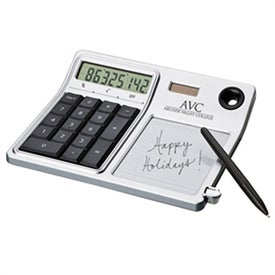 Erasable Memo Pad and Desktop Solar Calculator