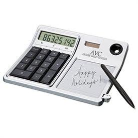 Branded Erasable Memo Pad and Desktop Solar Calculator
