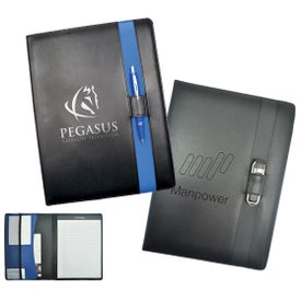 Executive Cerento Pad Folio Imprinted with Your Logo