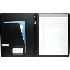 Executive Crescent Padfolio Printed with Your Logo