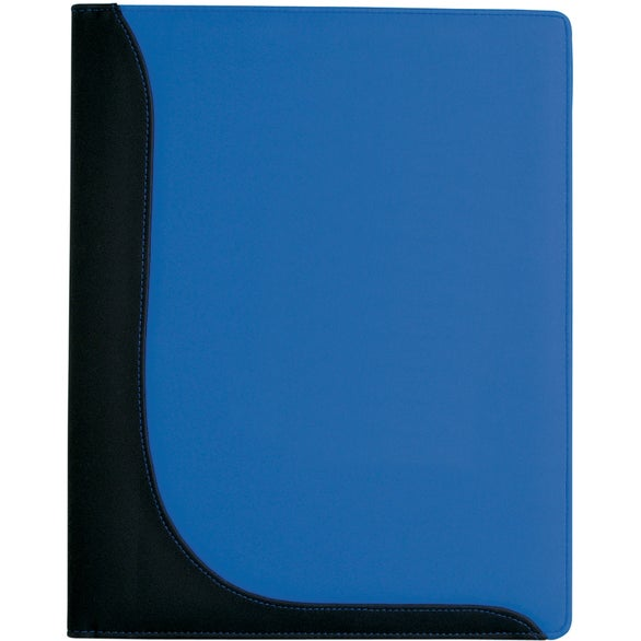 Blue Executive L-Curve Padfolio