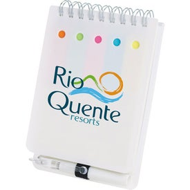 Personalized Memo Flag Spiral Jotter