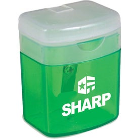 Flip Top Pencil Sharpener Printed with Your Logo