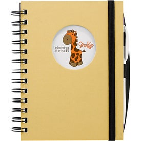 Frame Circle Hardcover Journal Book with Your Logo