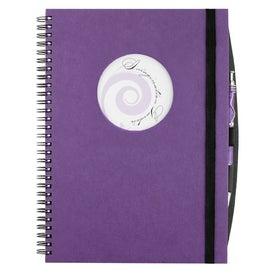Custom Frame Circle Large Hardcover Journal Book