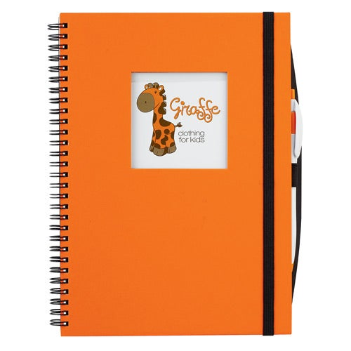 Orange Frame Square Large Hardcover Journal Book