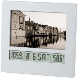 Customized Frame Calendar Clock/Ballpoint Pen Gift Set