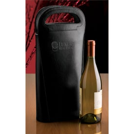 Imprinted Gioia II Double Wine Carrier